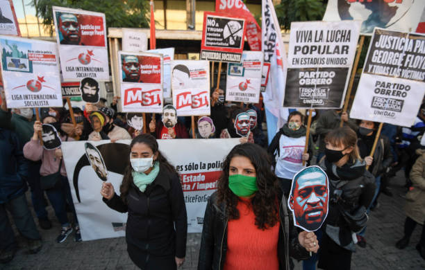 ARG: Protest In Buenos Aires Against Police Brutality In Death Of George Floyd