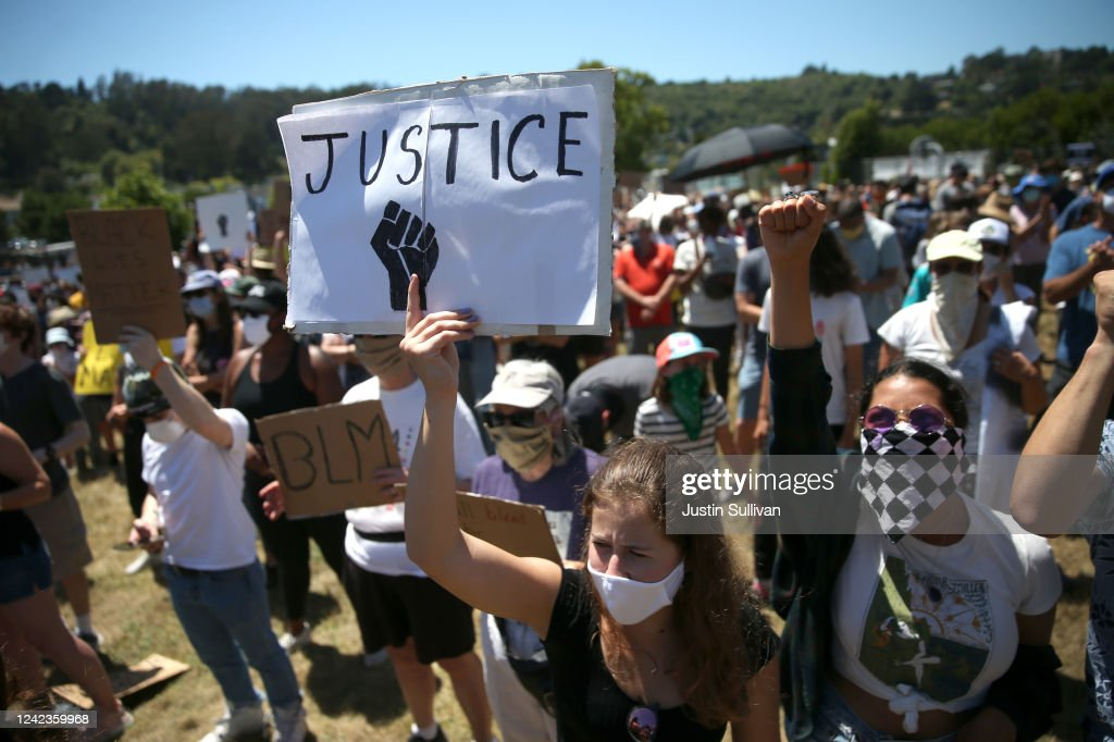 Protesters Rally In The Bay Area After The Death Of George Floyd : News Photo