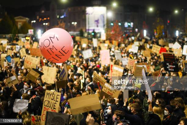 Protesters holding placards gather as they take part during the demonstration. The Polish Constitutional Court in its new, politically chosen...