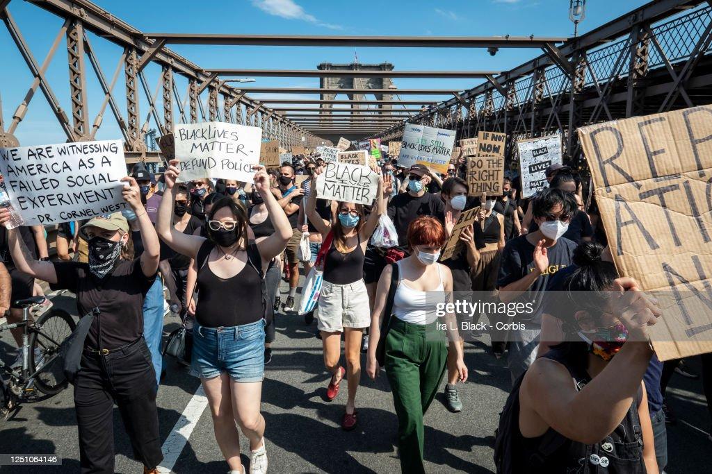 News - George Floyd Protest Juneteenth - New York City : News Photo