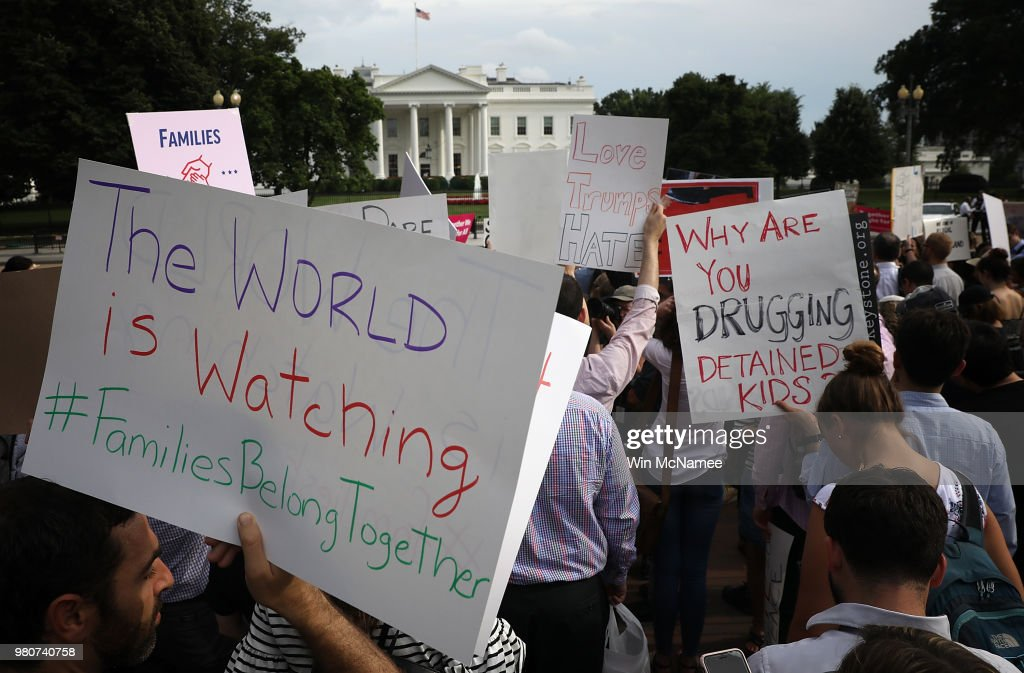 Protestors Rally at White House Against Immigration Policies