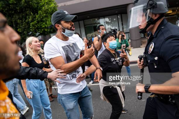 Protesters in the Fairfax District on Saturday May 30 2020 in Los Angeles CA Protests erupted across the country with people outraged over the death...