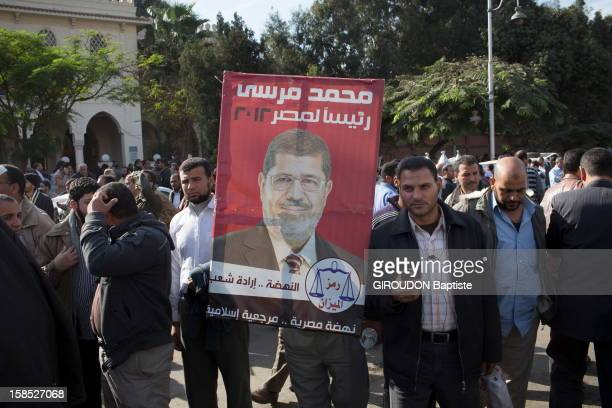 Protesters in the street protesting against the Egyptian President President Morsi outside the Presidential Palace on December 6, 2012 in Cairo,Eqypt.
