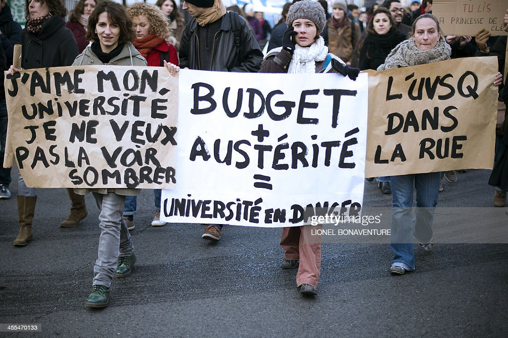 FRANCE-HIGHER-EDUCATION-DEMO : News Photo