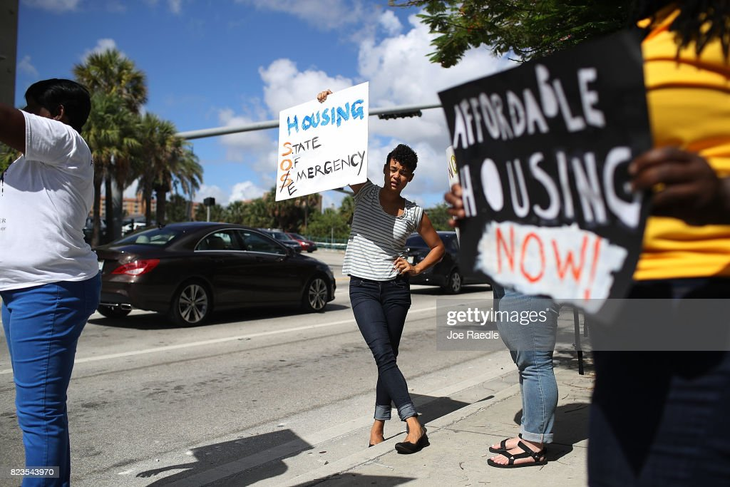 Activists, Residents Rally For Affordable Housing In Miami : News Photo