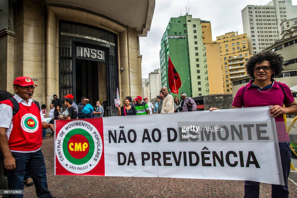 Protest Against Social Security Reform in Sao Paulo