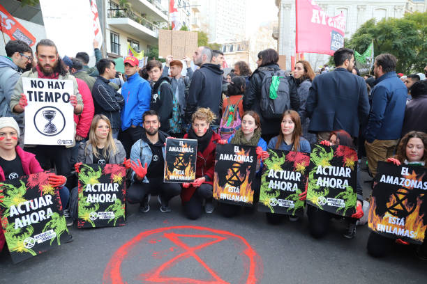 ARG: Protest In Buenos Aires In Response To Amazon Rainforest Fires