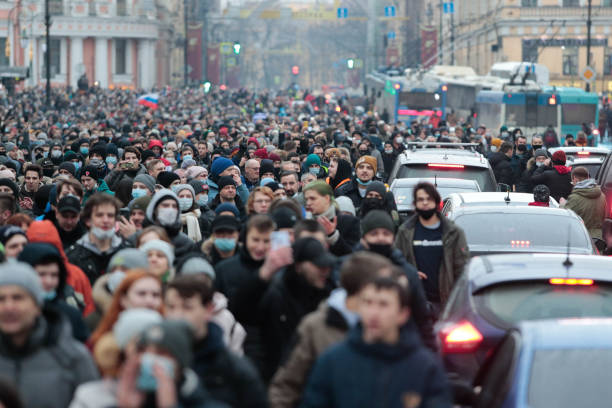 RUS: Rally In Support Of Jailed Russian Opposition Leader Alexei Navalny In Saint Petersburg, Russia