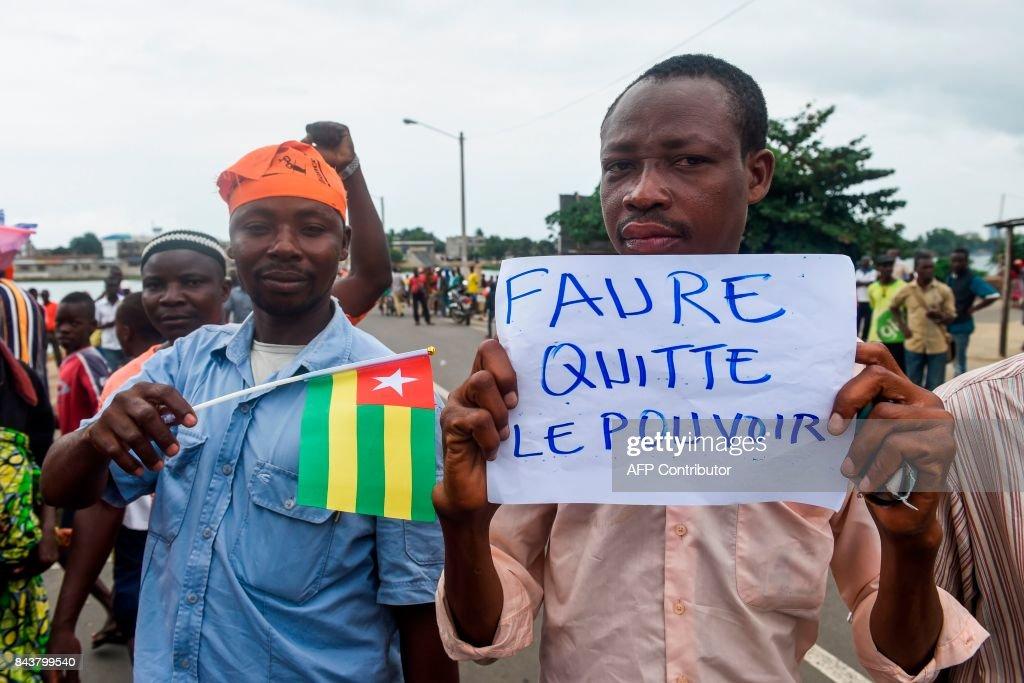 TOGO-POLITICS-PROTEST : News Photo