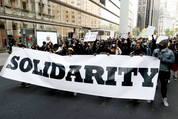 NY: Broadway Stars March Against Racism & Inequality In The Theater Industry