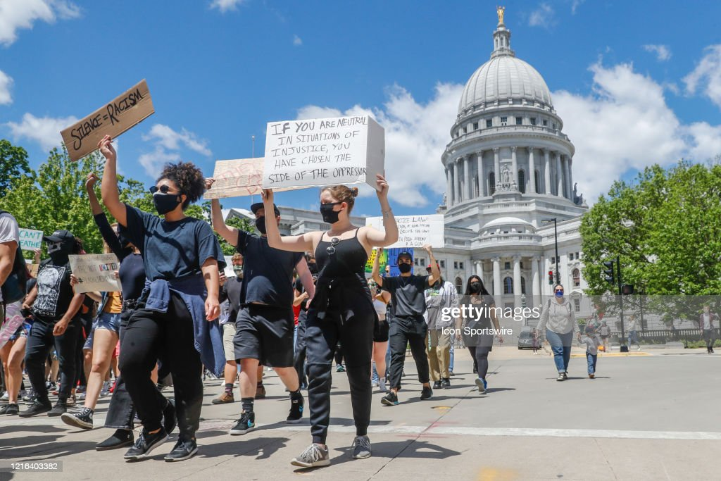 NEWS: MAY 30 Wisconsin Justice for George Protest : News Photo