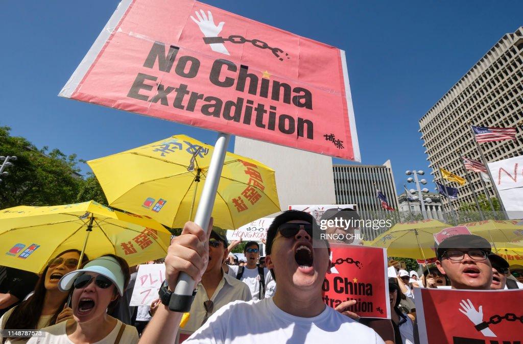 US-HONG KONG-CHINA-POLITICS-CRIME-PROTEST : News Photo