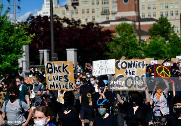 protesters march through Center City on June 1 2020 in Philadelphia Pennsylvania Demonstrations have erupted all across the country in response to...