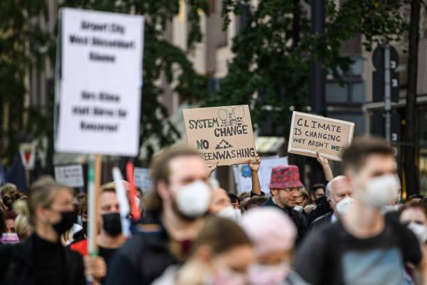 DEU: Fridays For Future Climate Strike In Dusseldorf