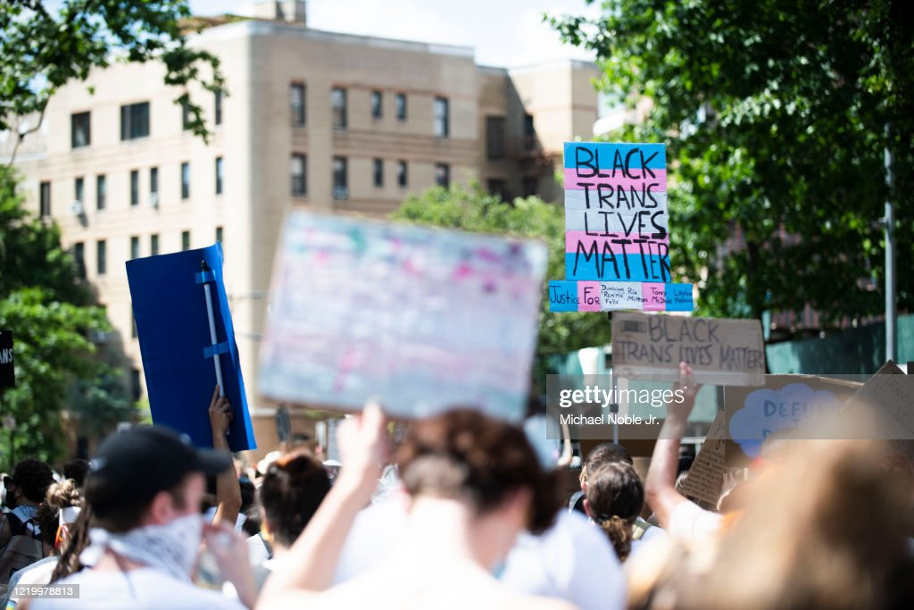 Protesters Gather In Brooklyn For Black Trans Lives Matter Rally : News Photo