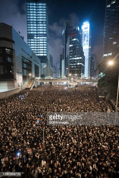 Protesters marched through the streets of Hong Kong during the mass rally which called for among other demands the withdrawal of the controversial...