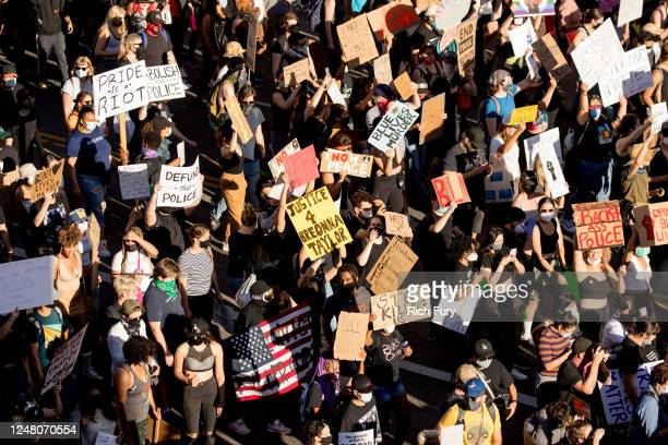 Protesters participate in the YG x BLMLA x BLDPWR protest and march on June 07 2020 in Los Angeles California
