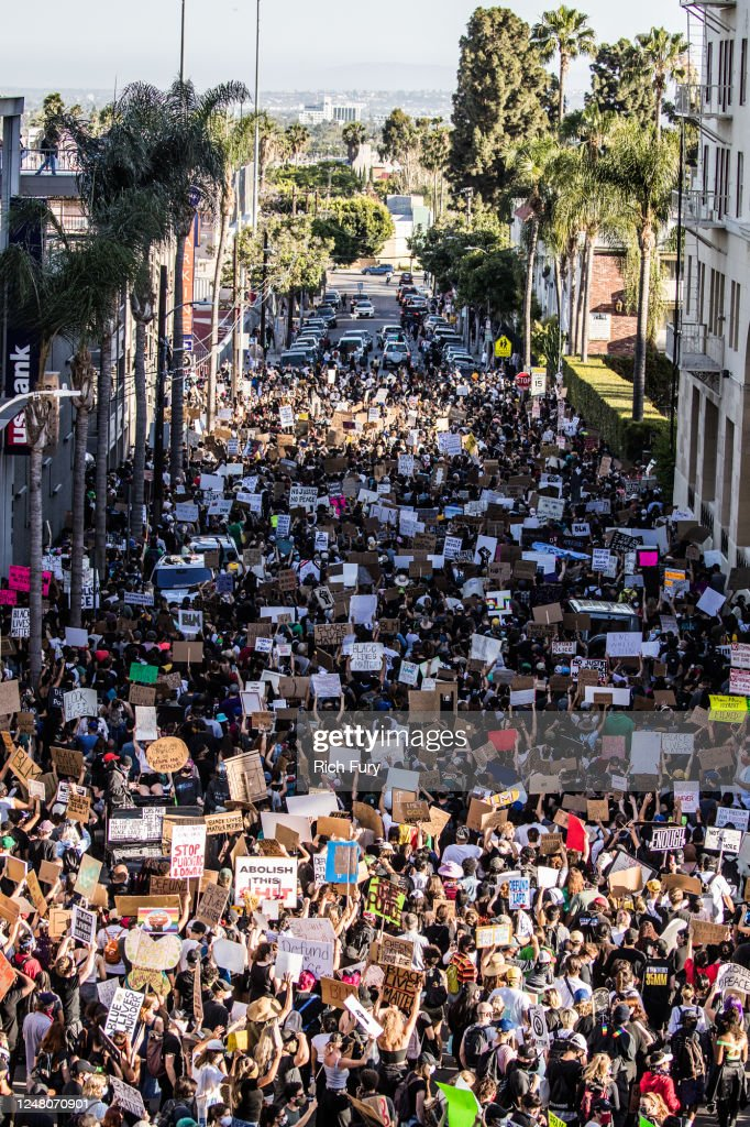 YG x BLMLA x BLDPWR Protest And March : News Photo