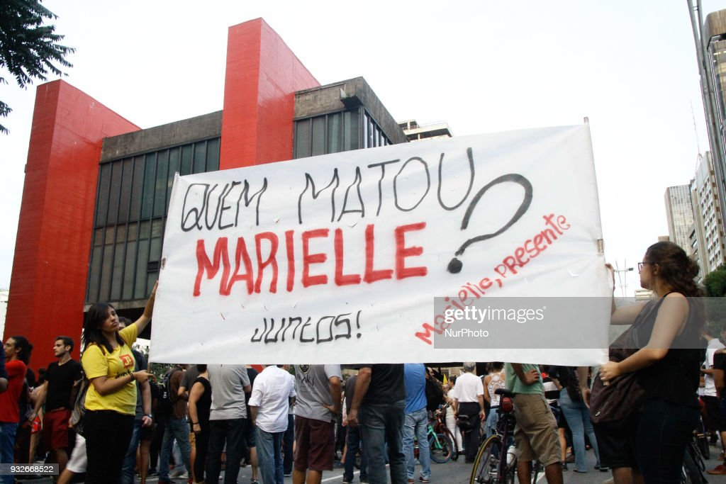 Protest against the death of the Marielle policy in Sao Paulo