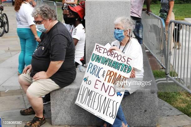 Protesters Rally at Independence Mall to demand an end to gun violence and that both political parties prioritize the lives of poor Americans over...