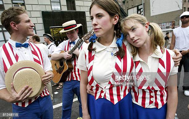 protesters rally at opening of rnc convention - republican national convention stock pictures, royalty-free photos & images