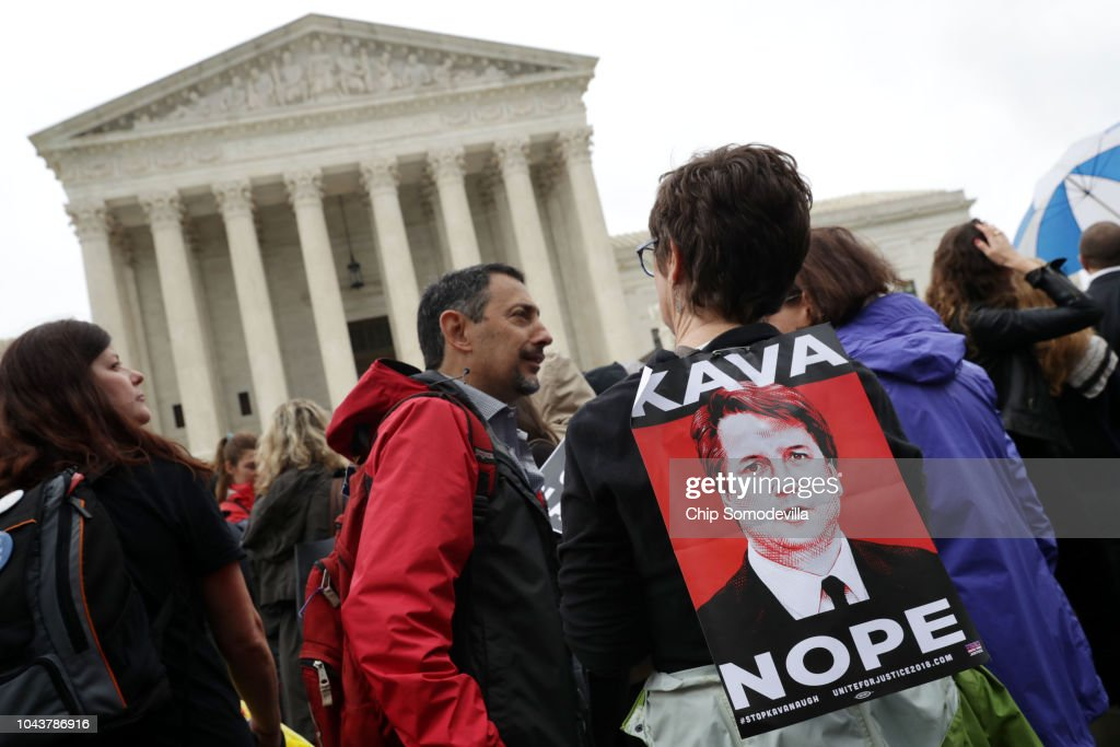 Activists March From Senate To Supreme Court In Support Of Christine Blasey Ford : News Photo