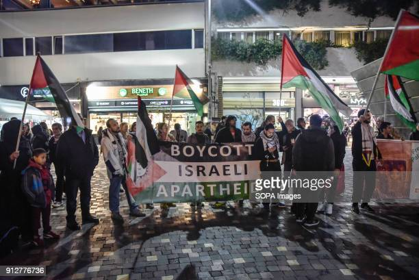 Protesters rally to demand the release of Ahed Tamimi a 16yearold Palestinian girl held in Israeli military detention The start of a military trial...