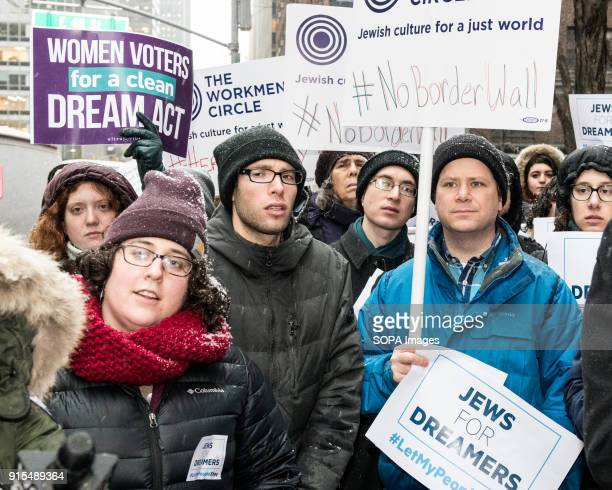 Protesters seen at the Pro Dreamer demonstration in New York The demonstration was sponsored by Bend the Arc Jewish Action Religious Action Center of...