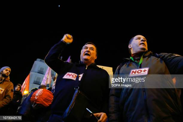 A protesters seen shouting slogans during the demonstration against job insecurity and new forms of labor exploitation Workers from various active...