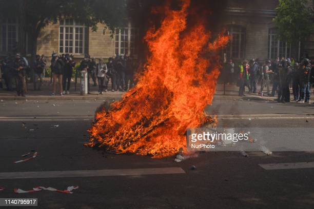 Protesters set fires in the streets to secure areas from the police After the police had provoked the crowds with tear gas attacks this tactic became...