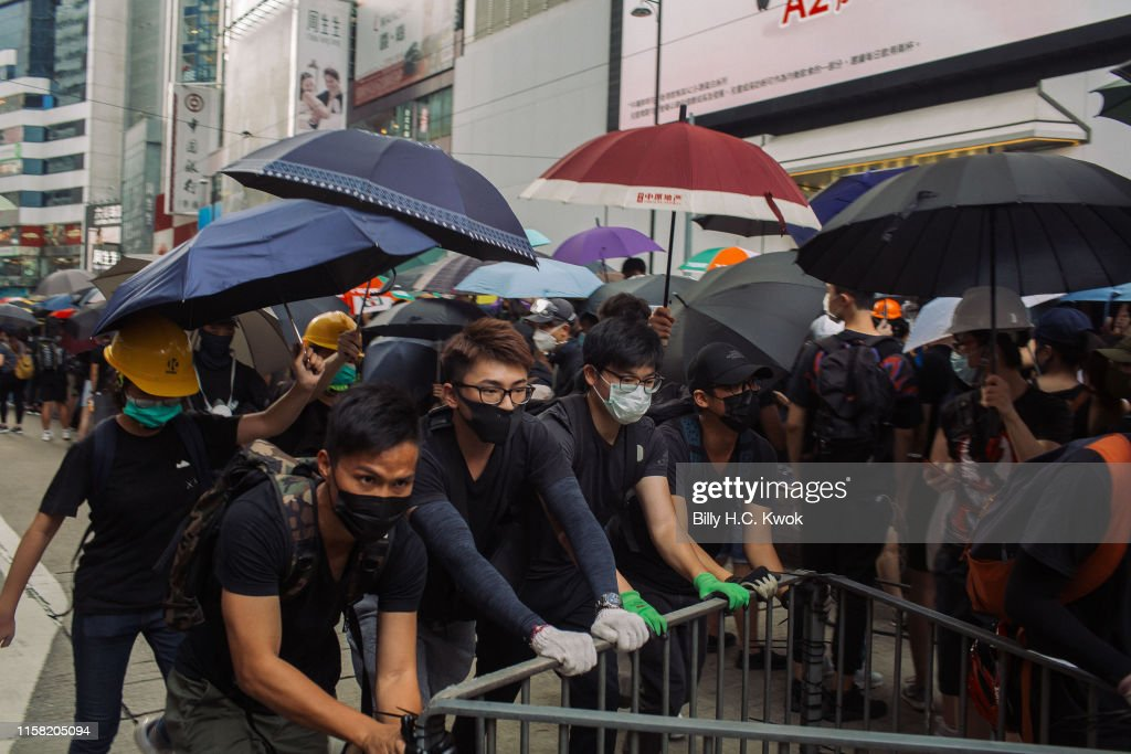 Violence Continues During Anti-Extradition Protests In Hong Kong : News Photo