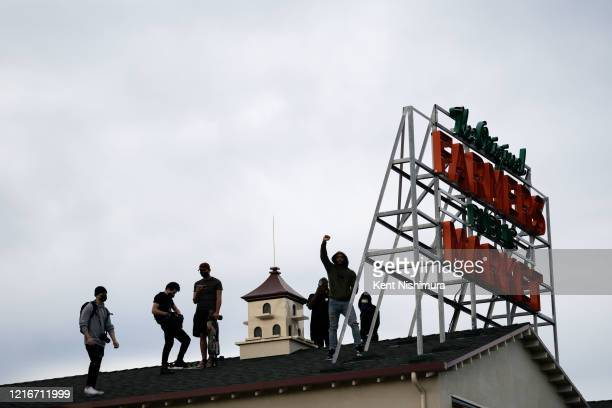 Protesters shout Hands up, dont shoot in the Fairfax District on Saturday, May 30, 2020 in Los Angeles, CA. Protests erupted across the country, with...