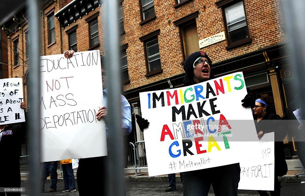 Donald Trump Holds Campaign Rally In Albany, NY : News Photo