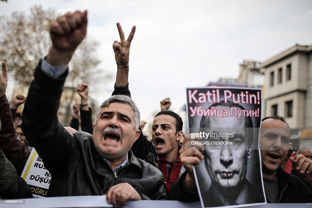 TURKEY-RUSSIA-SYRIA-DEMO : News Photo
