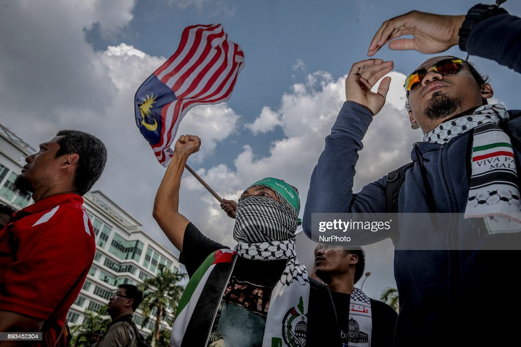 Protests in Malaysia at U.S. Embassy after Trump's Jerusalem Decision