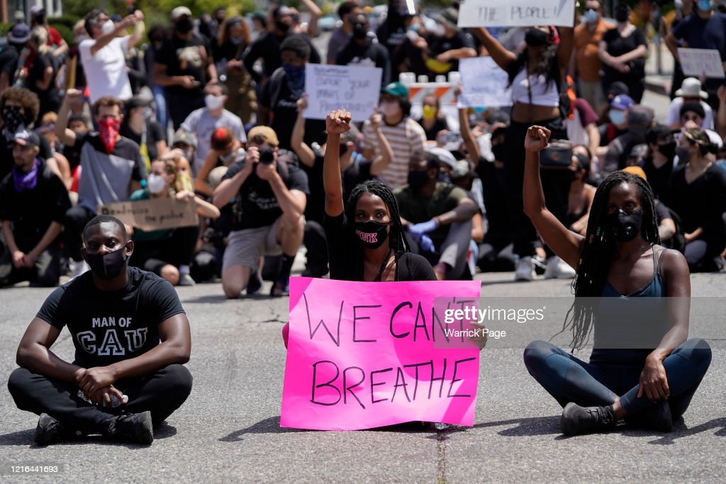 Black Lives Matter Holds Protest In Los Angeles After Death Of George Floyd : News Photo