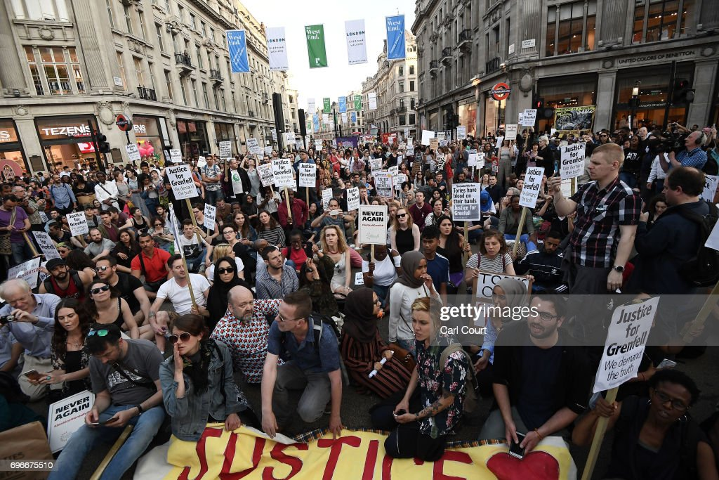 Mounting Despair And Anger As Residents Of Grenfell Tower Seek Answers : News Photo
