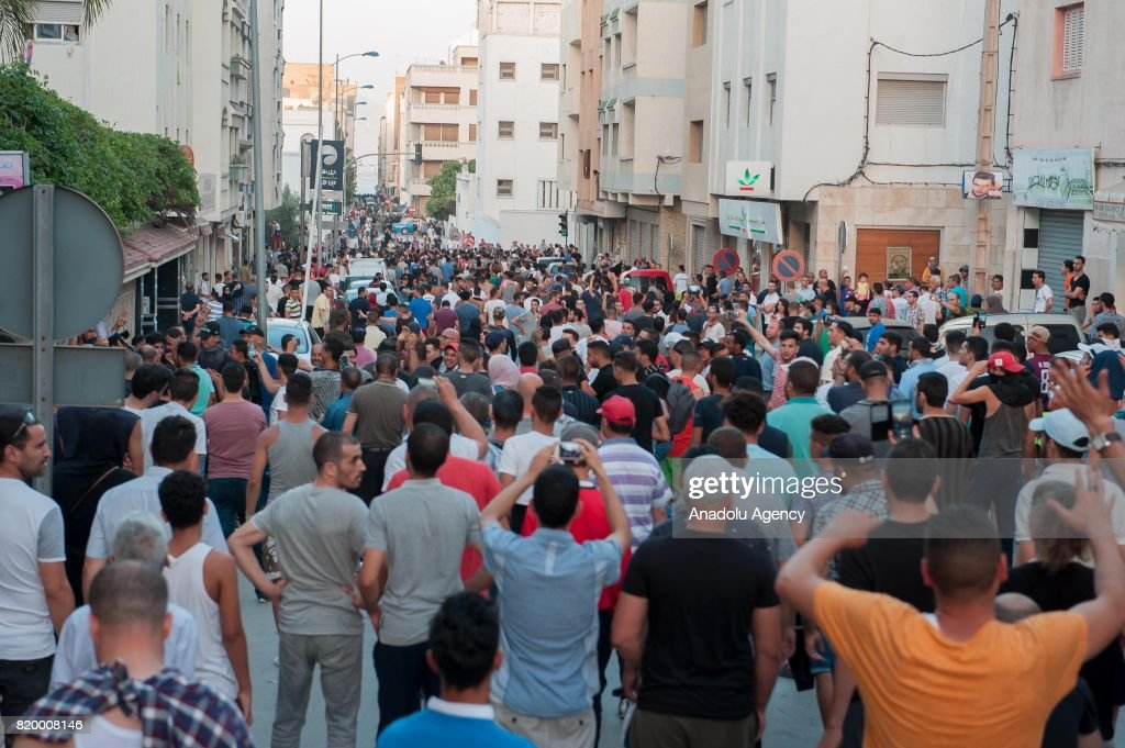 Protest in northern Morocco : News Photo