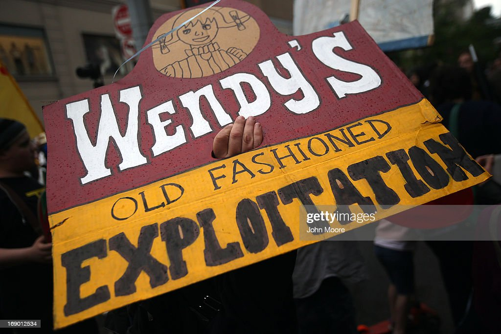 Protesters Demand Wendy's Join Fair Food Program : News Photo