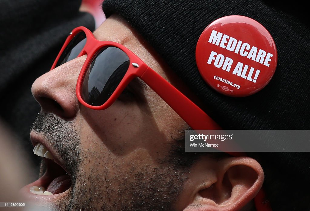 Progressive Democrats of America Hold A 'Medicare For All' Rally Outside PhRMA Headquarters : News Photo