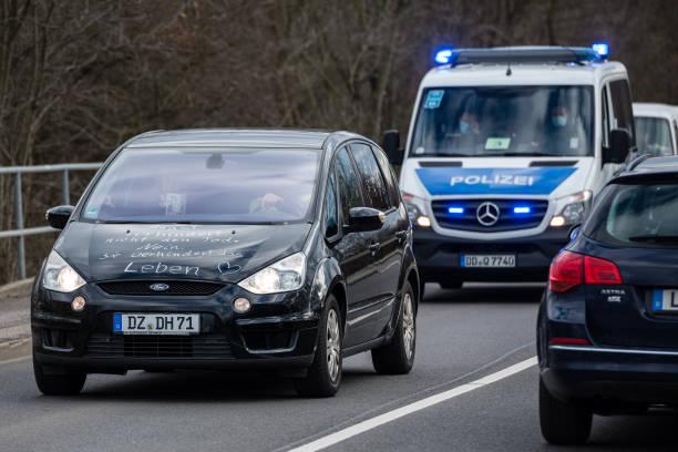 DEU: Corona Lockdown Protests In Leipzig