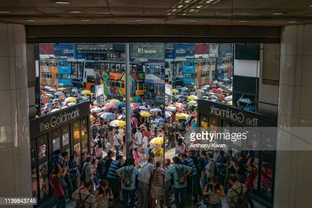 Protesters take part in a protest against the proposed extradition law on April 28 2019 in Hong Kong China Tens of thousands protesters join march...