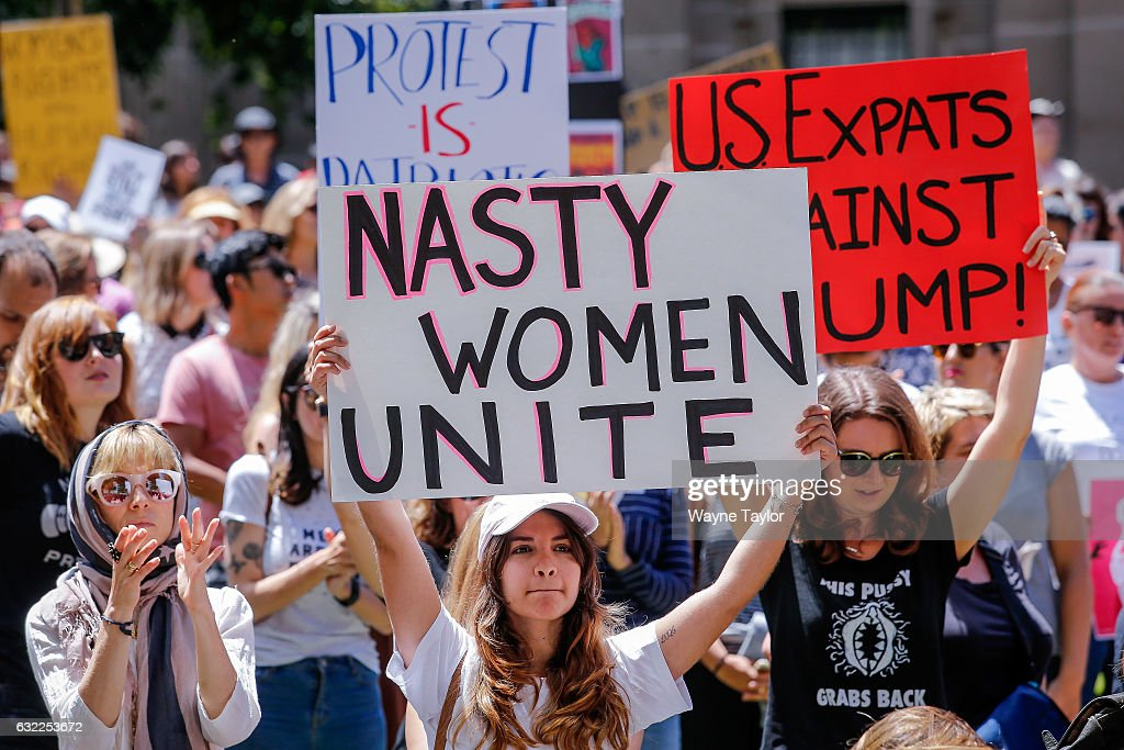 Australians Take Part In Women's Marches To Protest Trump Inauguration TBC : News Photo
