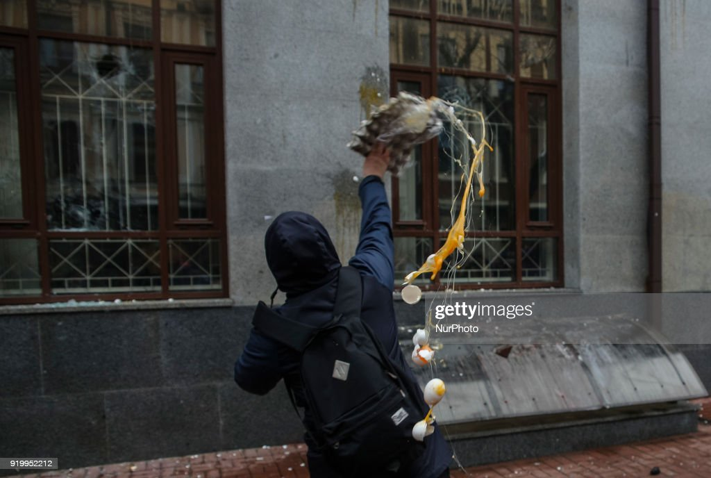 Far-rights attacked russian office in Kiev