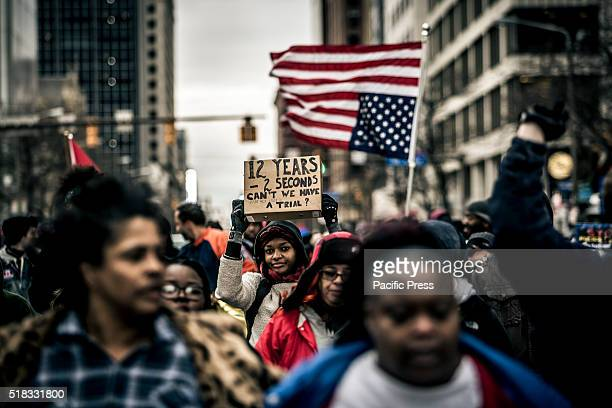 Protesters took the streets of downtown Cleveland Ohio the day after the local grand jury decided not to indict the officers who shot and killed...