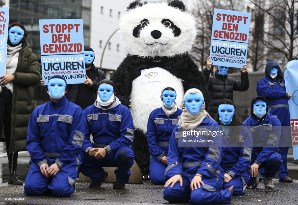 China's oppression policies against Uyghurs protested in Berlin : News Photo