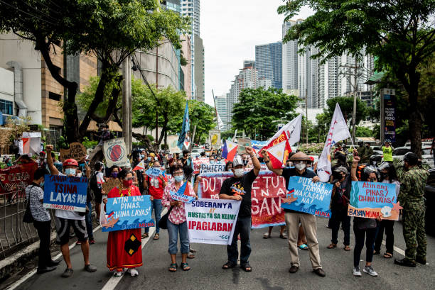 PHL: Protest During 123rd Philippine Independence Day