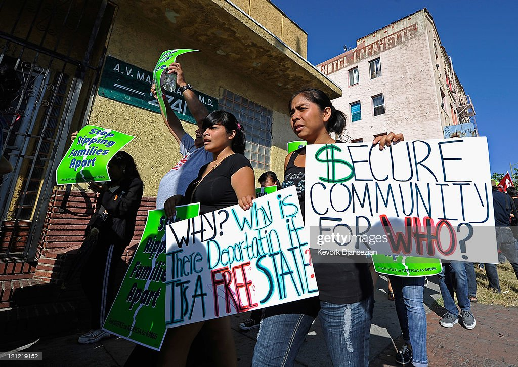 Immigrant Rights Groups Protest Secure Communities Program In LA : News Photo