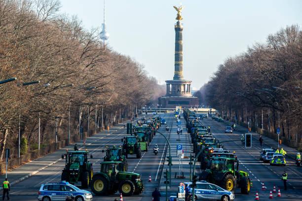 DEU: Farmers Protest During Green Week Trade Fair