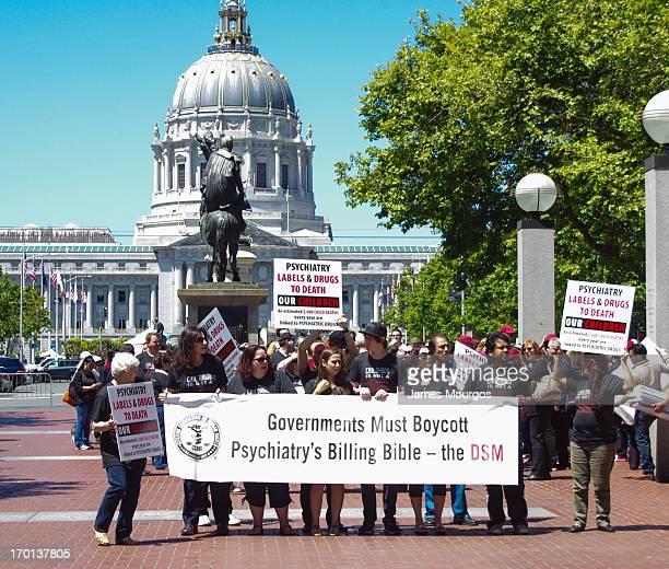 Protesting psychiatry's treatment of children.